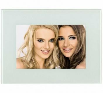 Hama Portraitrahmen Glas Weiß 10x15cm Portrait Bilder-Rahmen Foto Bild Porträt