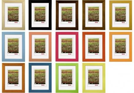 Hama Holz Rahmen Foggia Bilder-Rahmen Poster Fotos Portrait Wand Holzrahmen Glas