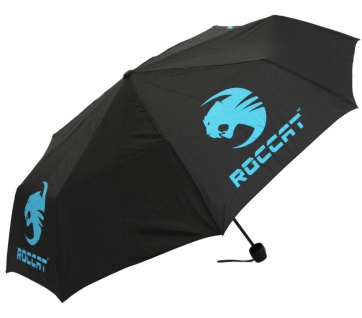 Roccat Regenschirm Schirm Taschenschirm Regen Schutz Gaming Stabil Wind-Schutz