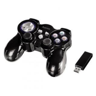 Hama Mini V3 Rumble Wireless Controller Game-Pad Joypad für Sony PS3 Konsole