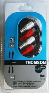 Thomson HQ 5m Cinch-Verlängerung Cinch-Kabel Cinch-Buchse Cinch-Stecker RCA - Vorschau 1