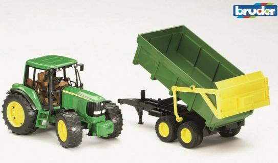 Bruder John Deere 6920 Traktor mit Wannen-Kippanhänger Profi-Serie 1:16 02058