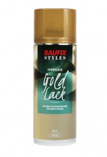 Baufix Lack-Spray Gold Optik 400ml Sprüh-Dose Spray-Dose Sprüh-Lack Farb-Spray