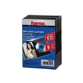 Hama 5x Stück Mini-DVD Mini-CD 8cm Leer-Hüllen Box DVD-Hülle Rohlinge Camcorder