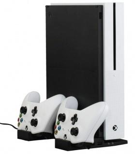 Hama Lade-Station Ständer Docking Charger + 2x Akku für Xbox One S Controller