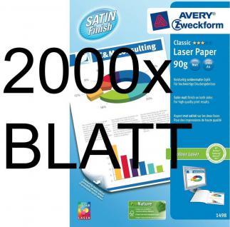 2000 Blatt Avery Zweckform A4 90g Colour-Laser Papier weiß matt Druckerpapier