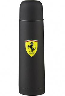 Scuderia Ferrari Thermoskanne Isolier-Kanne Flasche aus Edelstahl 0, 5 l Schwarz