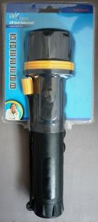 HQ LED Taschenlampe Gummi wasserdicht IP44 Lampe Flash Light Outdoor Camping