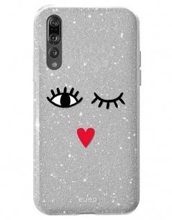 Puro EYES Glitzer Cover Schutz-Hülle Hard-Case Tasche für Huawei P20 Pro 6, 1