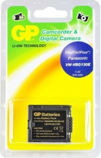 GP Li-Ion Camcorder Akku für Panasonic VW-VBG130E VW-VBG130 VW-VBG70 DMW-BLA13E