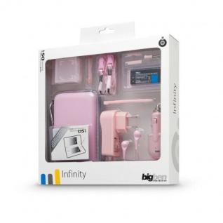 """BigBen Zubehör-Pack Set """" Infinity"""" Rosa Tasche Schutz-Folie für Nintendo DSi"""