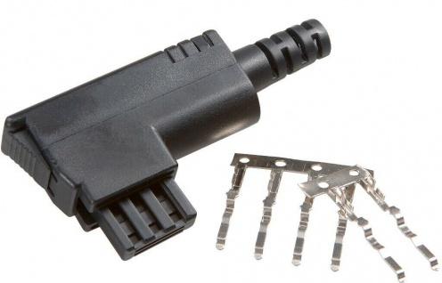 Vivanco TAE-N Stecker Plug TAE-Stecker Knickschutz schwarz für Telefon Fax etc
