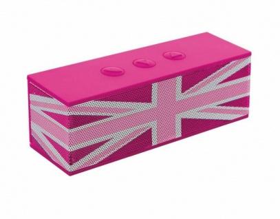 Bigben Bluetooth Lautsprecher GB Union Jack Pink Boxen BT Wireless Speaker Box