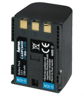 Hama Li-Ion Akku für Canon BP-2L12 BP-2L14 MV5 MVX20i HV20 HV30 MD110 HG10 DC310