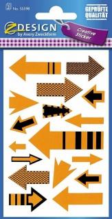 Avery Creative Sticker Aufkleber Neon Pfeile Siegel Etiketten Geschenk Karten