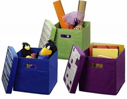Hama Falt-Box Spiel-Kiste Klapp-Korb Spielzeug-Box Kleider-Schrank Kinder-Zimmer