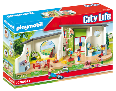 Playmobil 70280 KiTa Regenbogen Kindergarten Spielzeug-Set Erzieherin Kinder