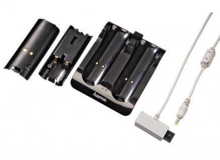 Hama Charger Ladegerät Docking 2x Akku für Nintendo Wii WiiU Wiimote Controller