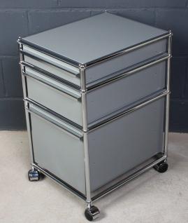 USM Haller Schreibtisch-Container Rollcontainer mittelgrau 3 Auszüge Schubladen