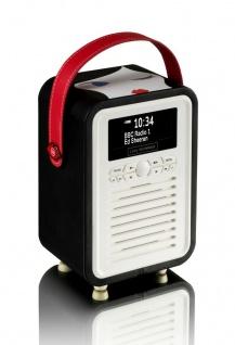 VQ Retro Mini Digital-Radio Doll Face DAB DAB+ FM Bluetooth Weckfunktion Wecker