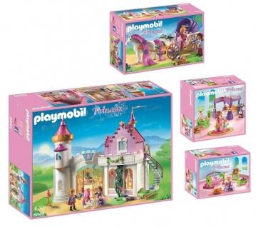 Playmobil Princess Bundle 6849 6856 6851 6852 Prinzessinnen-Schloss Kutsche etc