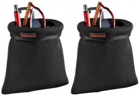 PACK 2x Hama Organizer Auto-Ablage Beutel Tasche Fach Handy MP3 Brille PKW LKW