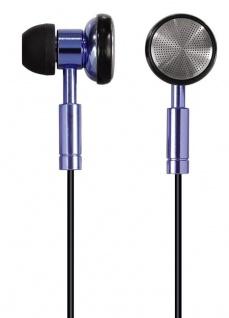 Hama PC-Headset HS-75 Stereo In-Ear Kopfhörer 3, 5mm Klinke Metallic Blau