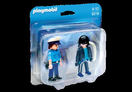 Playmobil 9218 Duo Pack Polizist und Langfinger Dieb Figuren-Set mit Zubehör