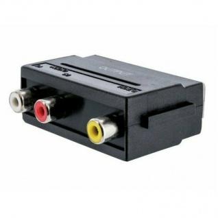 Schwaiger TV AV-Adapter OUT Scart-Adapter / 3x Cinch / Composite Video Chinch