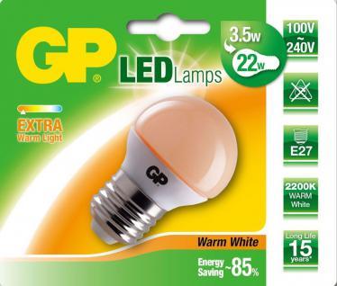 GP LED Mini Birne E27 3, 5W/22W Extra Warmweiß 2200K Lampe Glühbirne Leuchtmittel