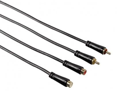 Hama HiFi 5m Cinch-Verlängerung Verlängerungs-Kabel Chinch RCA Stecker Kupplung