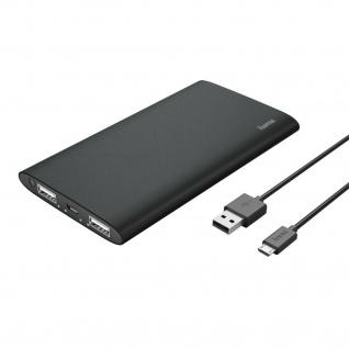 Hama Power Pack Premium Alu 5000mAh Tragbar Akku LED-Anzeige Schnell Laden