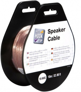 Monster Lautsprecher-Kabel 10m 18 AWG Transparent Rolle Spule Audio Boxen-Kabel