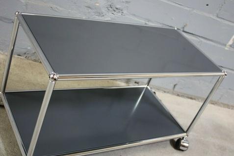 USM Haller Lowboard Regal Tisch Beistell-Tisch 75x35 anthrazitgrau Ablage - Vorschau 3