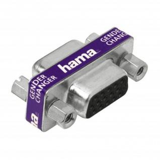 Hama Gender Changer VGA S-VGA 15 pol. Verbinder Adapter 2x VGA-Buchse Kupplung