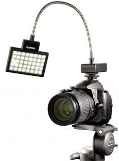 Hama LED Foto/Video Slim-Panel 40 Fotolicht Blitzschuh Kamera Licht Kopflicht