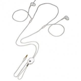 Hama Stereo Neckstrap Kopfhörer Headphone ME-486 2, 5mm Klinke Weiß/Silber