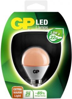 GP LED Mini Birne E14 3, 5W/22W Extra Warmweiß Lampe Golf-Ball Kugel Leuchtmittel