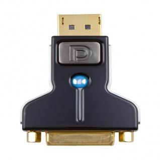 Monster HQ DVI-D Displayport-Adapter Gold DP Display Port für TV Monitor Beamer