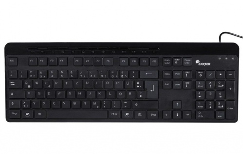 Hama Exxter Multimedia USB Tastatur KE-610 PC Keyboard Flach Deutsch QWERTZ BRD
