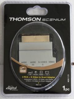 Thomson Scenium Scart-Adapter Scart-Stecker -> 3x RCA S-Video S-VHS Umschalter