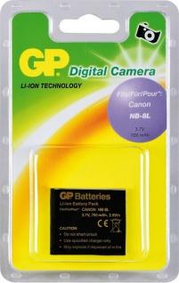 GP Li-Ion Akku für Canon NB-8L NB8L Powershot A3300 A3200 A3100 A3000 IS etc.
