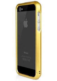 macally Aluminium Frame gold Cover Alu-Rahmen Hülle Bag für Apple iPhone SE 5S 5 - Vorschau 3