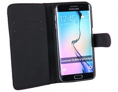 Patona Slim Flip Book-style Klapp-Etui Schutz-Hülle für Samsung Galaxy S6 Edge