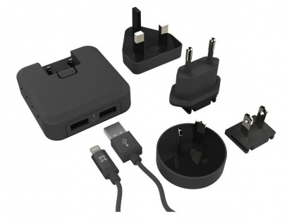 XtremeMac Dual LED USB Ladegerät 2-Port 4, 8A Netz-Lader Netzteil Lightning-Kabel