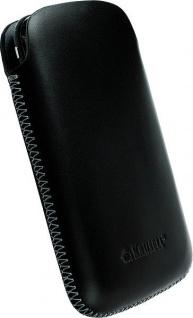 Krusell Donsö Mobile Pouch M black Leder-Tasche Etui Flap Bag Hülle