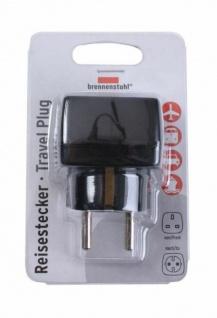 Brennenstuhl Reise-Stecker Strom-Adapter UK England GB > Deutschland DE EU Euro