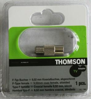 Thomson Adapter F-Buchse auf Koax-Kupplung F-Stecker Koaxial-Buchse Antenne - Vorschau 1