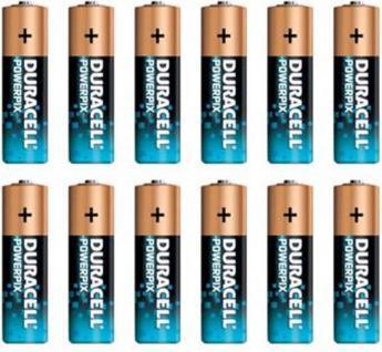 Duracell 12x AA-Batterien POWER-PIX 1.5V Alkaline Batterie LR6 MN-1500 Mignon