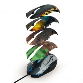 Hama uRage USB Gaming-Mouse Morph 3200dpi Beleuchtet Optisch Kabel-Maus 6 Tasten
